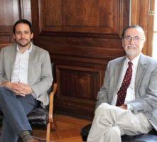 De izquierda a derecha, Sergio Celis y Víctor Pérez